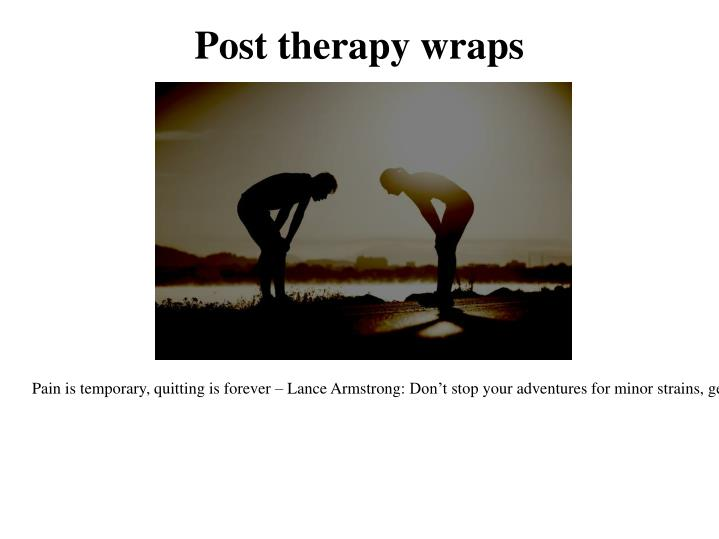 Post therapy wraps