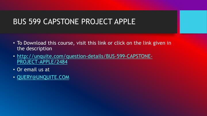 Bus 599 capstone project apple1