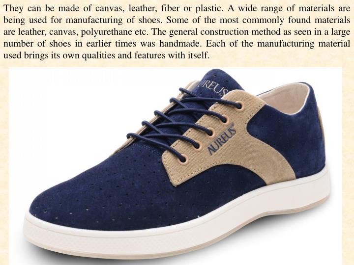 They can be made of canvas, leather, fiber or plastic. A wide range of materials are being used for ...