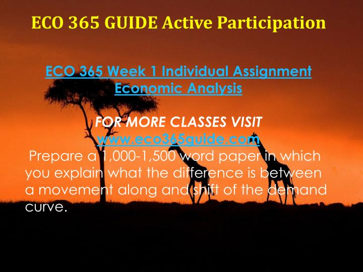article analysis eco 365