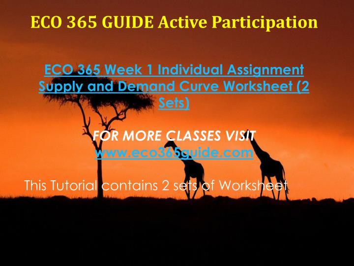 ECO 365 GUIDE Active Participation