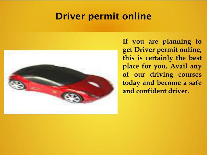 Driver permit online