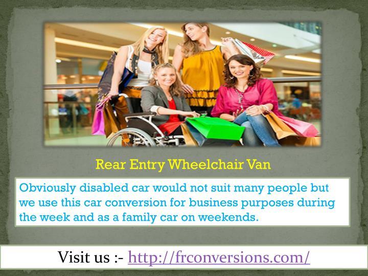 Rear Entry Wheelchair