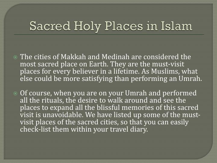Sacred holy places in islam
