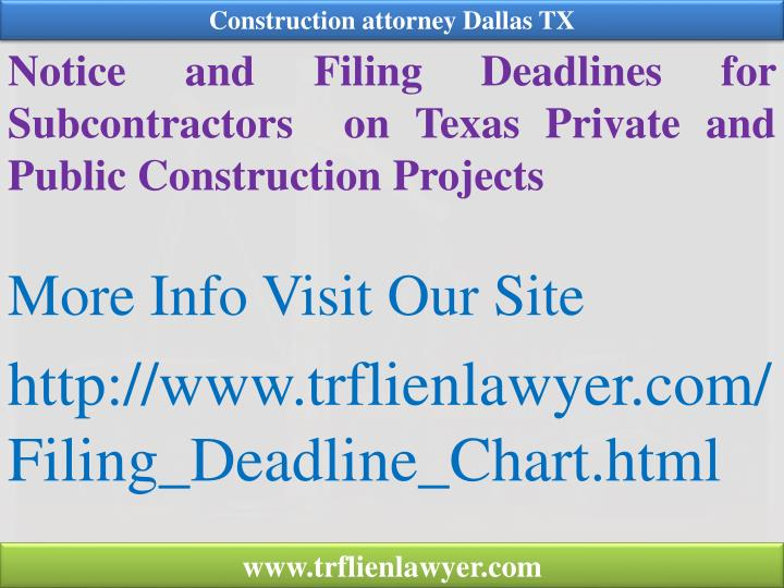Construction attorney Dallas TX