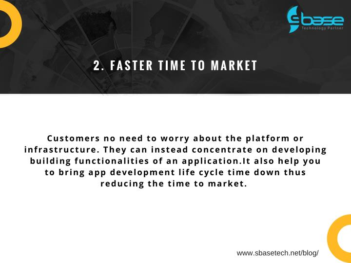 2. FASTER TIME TO MARKET