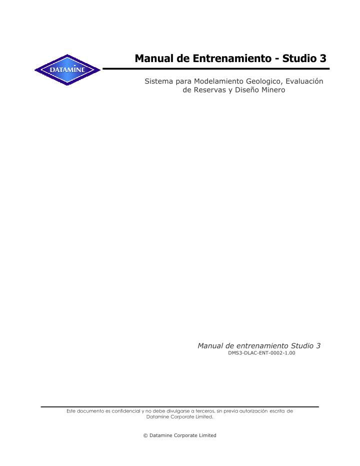Manual de Entrenamiento - Studio 3