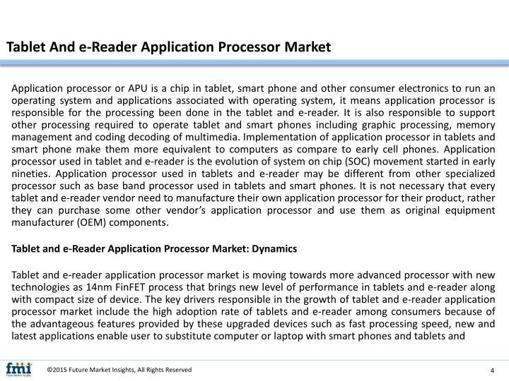 Tablet And e-Reader Application Processor Market
