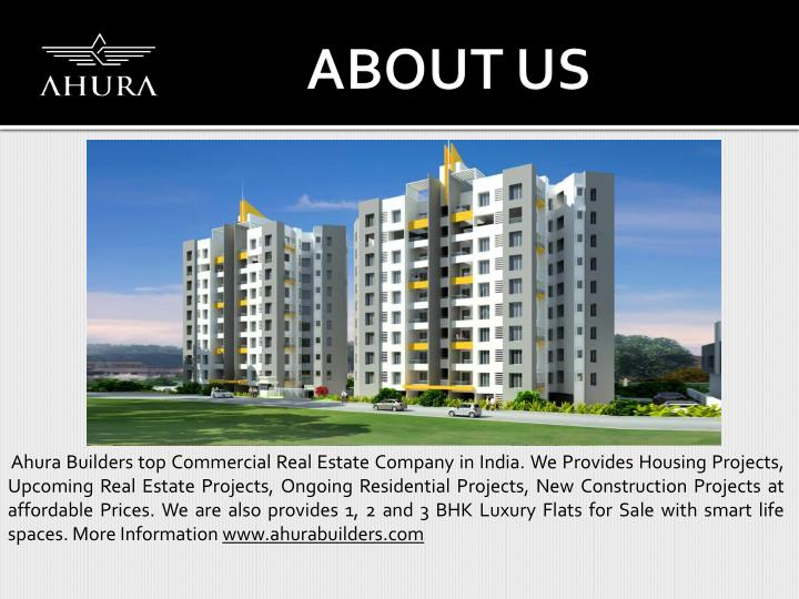 Ahura Builders top Commercial Real Estate Company in India. We Provides Housing Projects,