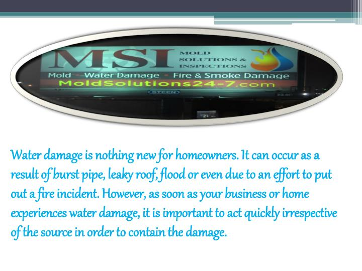 Water damage is nothing new for homeowners. It can occur as a result of burst pipe, leaky roof, floo...