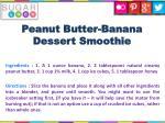 peanut butter banana dessert smoothie