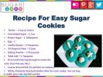 recipe for easy sugar cookies