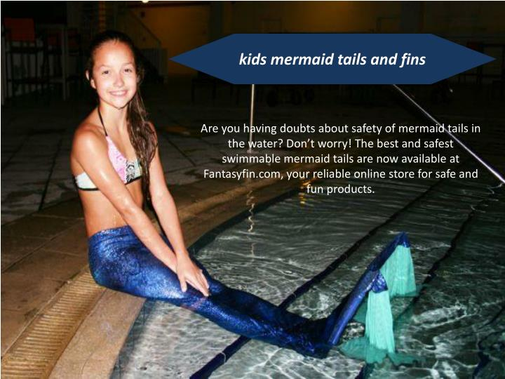 kids mermaid tails and fins