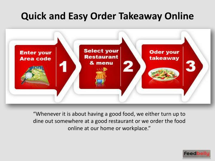 quick and easy order takeaway online n.