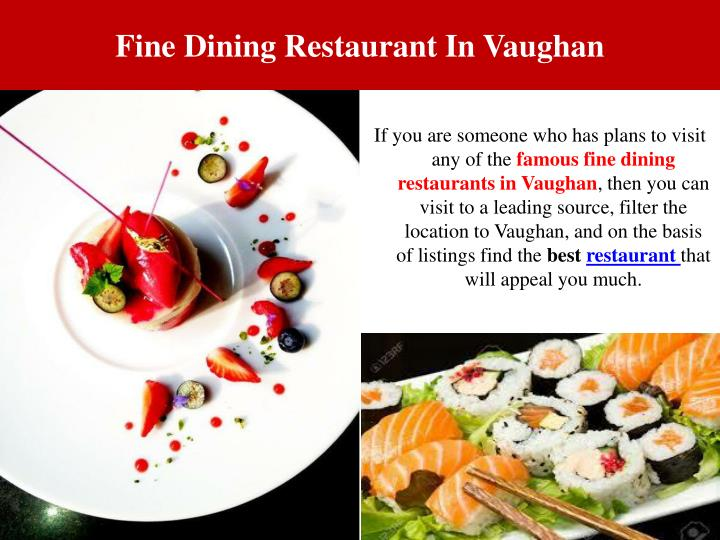 Fine Dining Restaurant In Vaughan