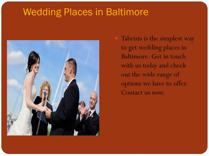 Wedding places in baltimore