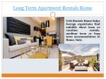 long term apartment rentals rome