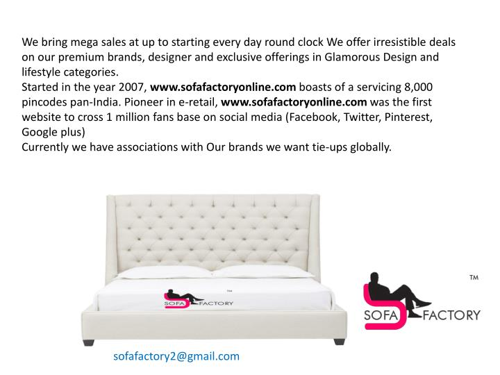 We bring mega sales at up to starting every day round clock We offer irresistible deals