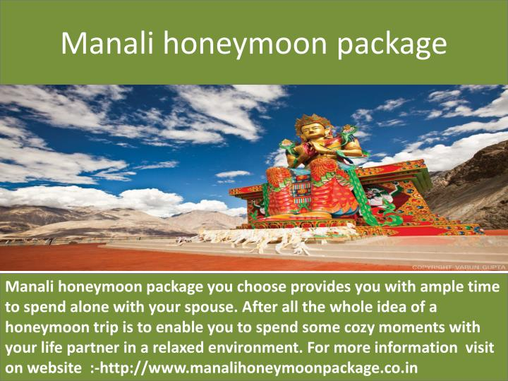 manali honeymoon package n.