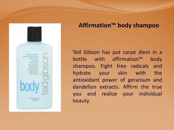 Affirmation™ body shampoo