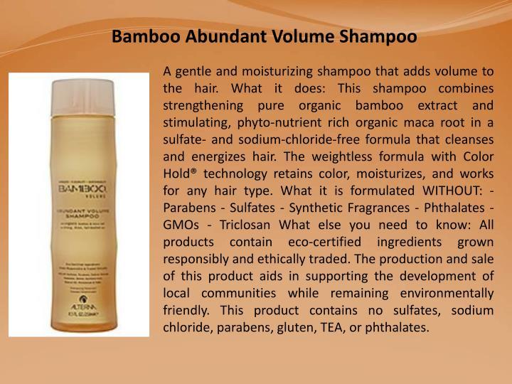 Bamboo Abundant Volume Shampoo