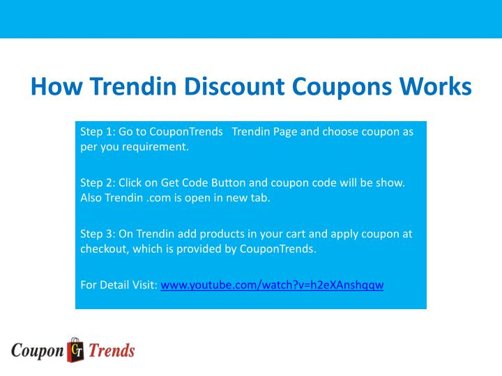 How Trendin Discount Coupons Works