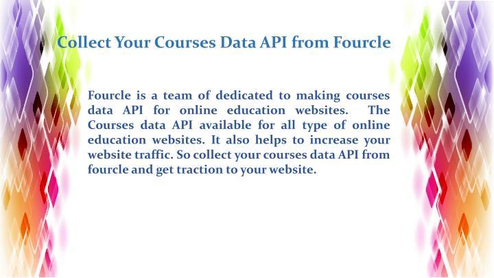 Courses data api fourcle
