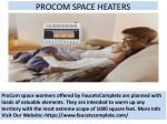 procom space heaters
