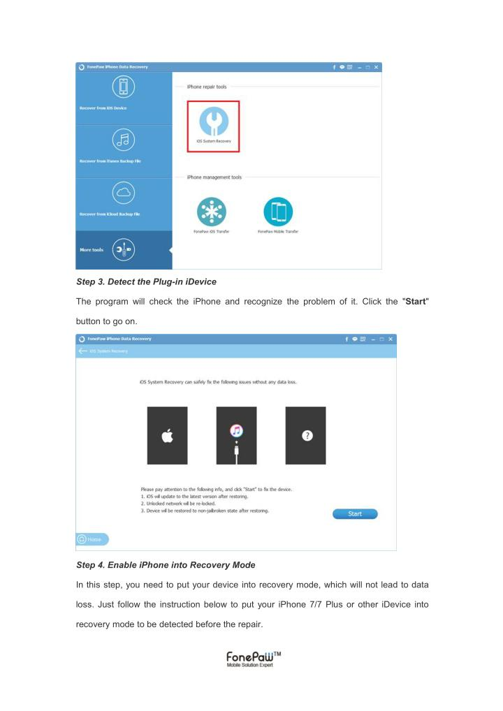 Step 3. Detect the Plug-in iDevice
