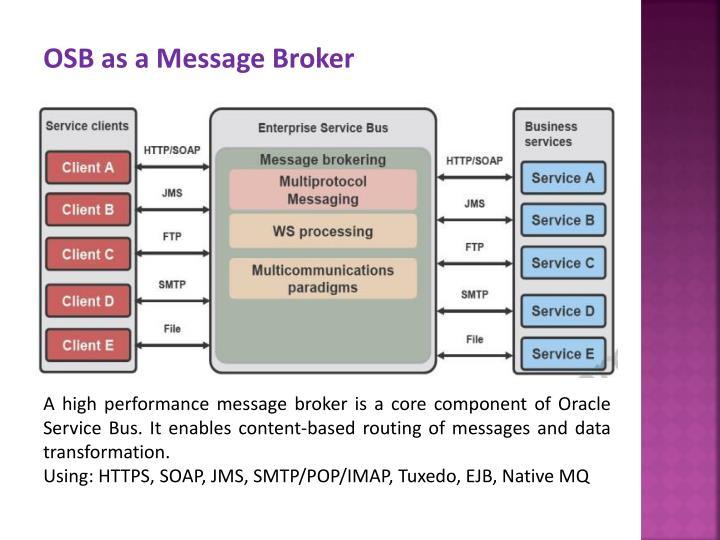 OSB as a Message Broker