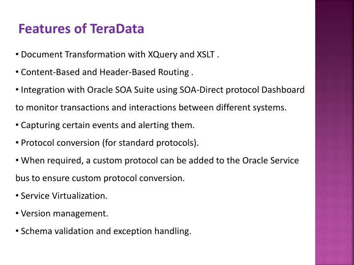 Features of TeraData