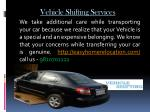 vehicle shifting services