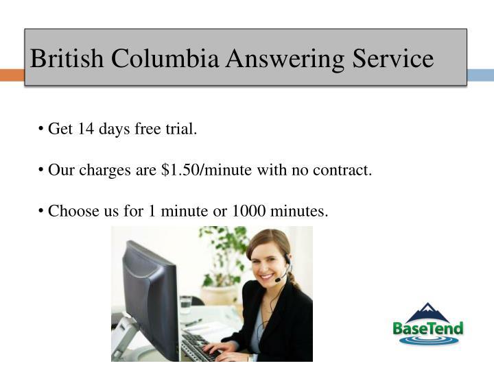 British columbia answering service