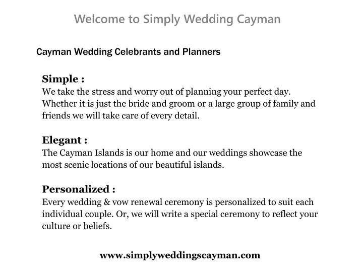 Welcome to Simply Wedding Cayman