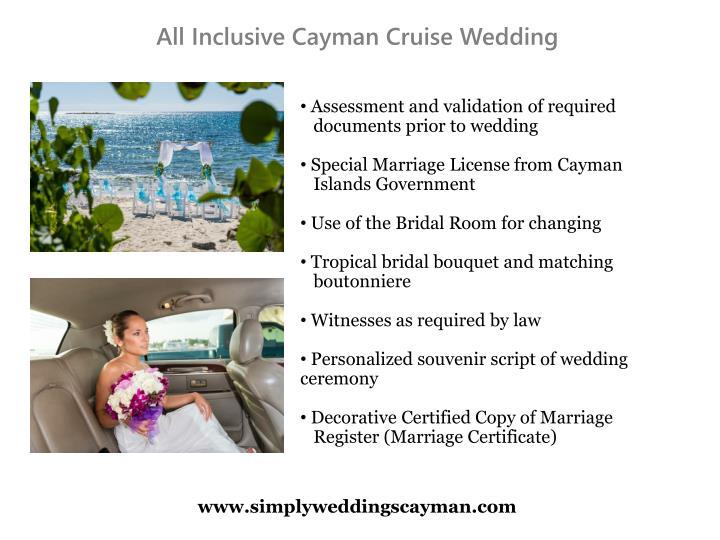 All Inclusive Cayman Cruise Wedding