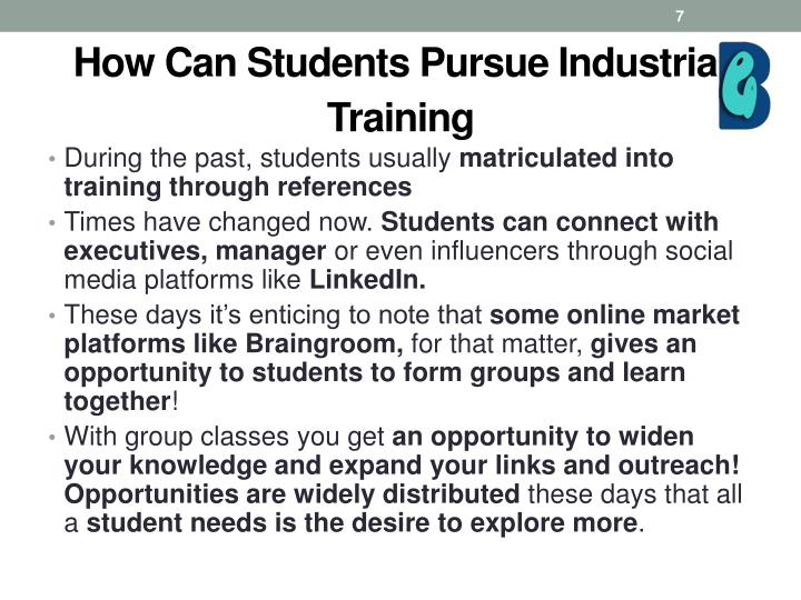 How Can Students Pursue Industrial Training