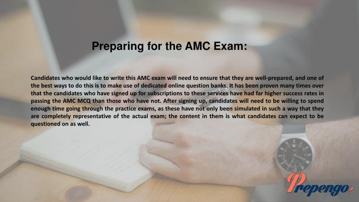 Preparing for the AMC Exam: