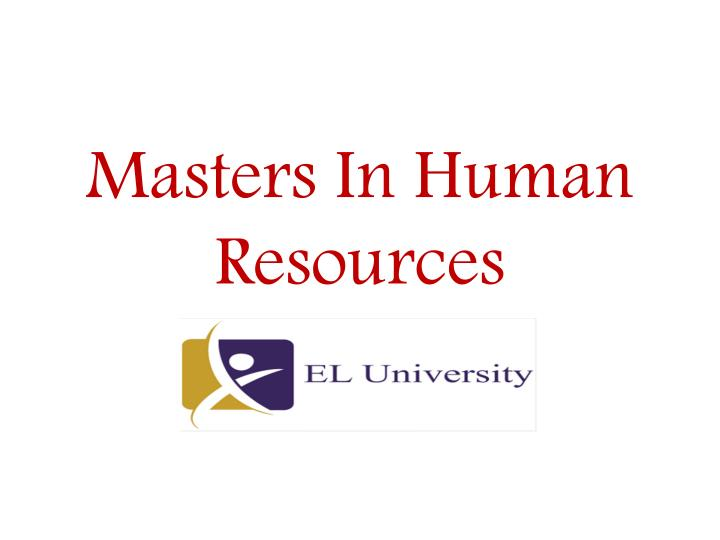 masters in human resources n.