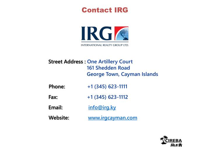 Contact IRG