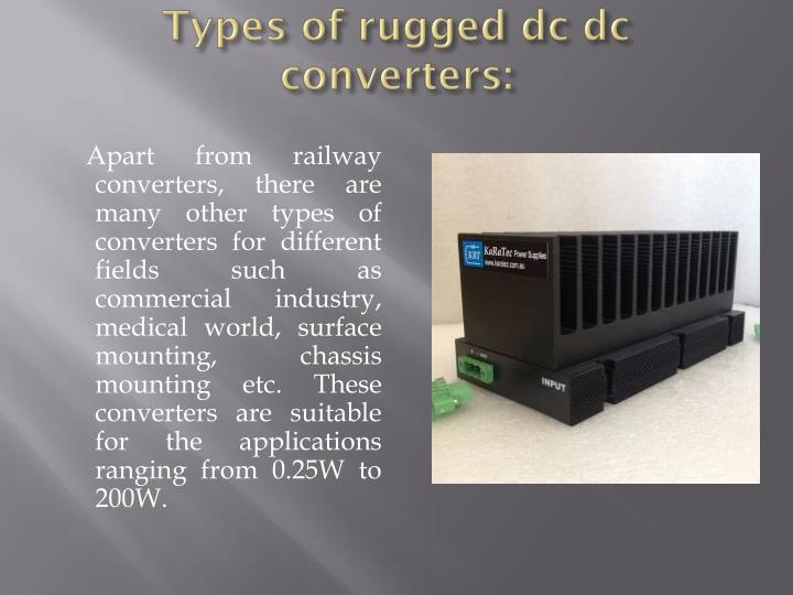 Types of rugged dc