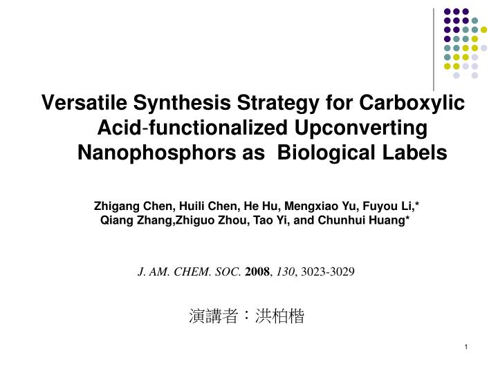Versatile Synthesis Strategy for Carboxylic Acid