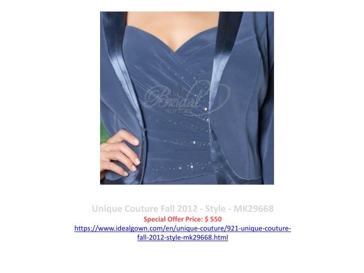 Unique Couture Fall 2012 - Style - MK29668