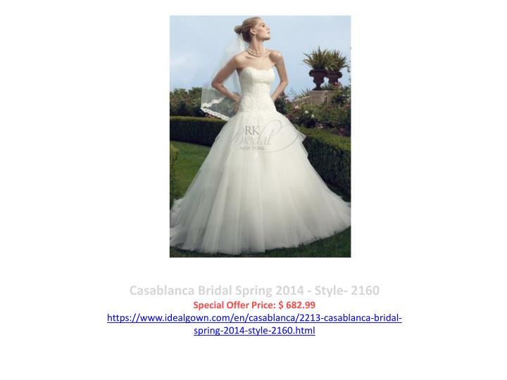 Casablanca Bridal Spring 2014 - Style- 2160