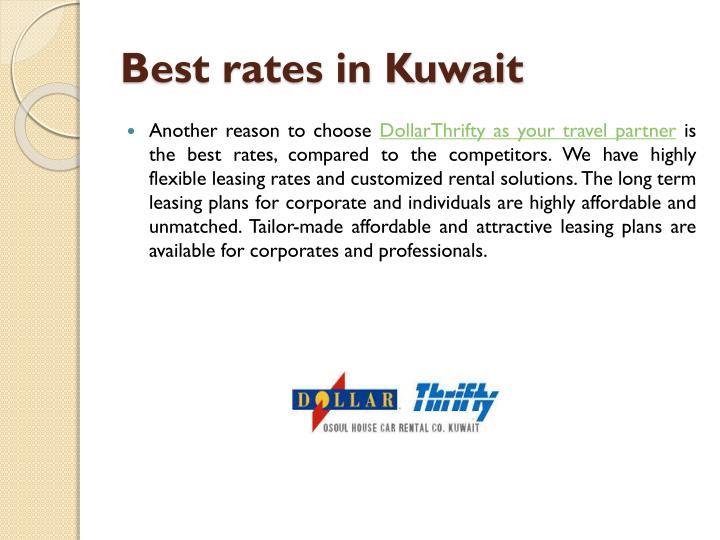 Best rates in Kuwait