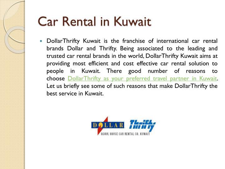 Car rental in kuwait