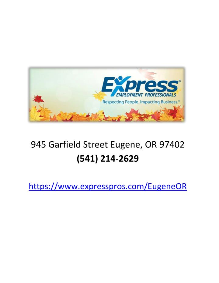 945 Garfield Street Eugene, OR 97402