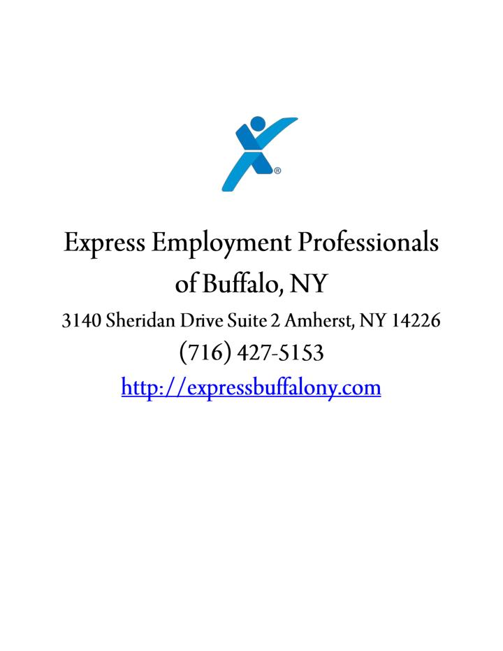 Express employment professionals of buffalo ny