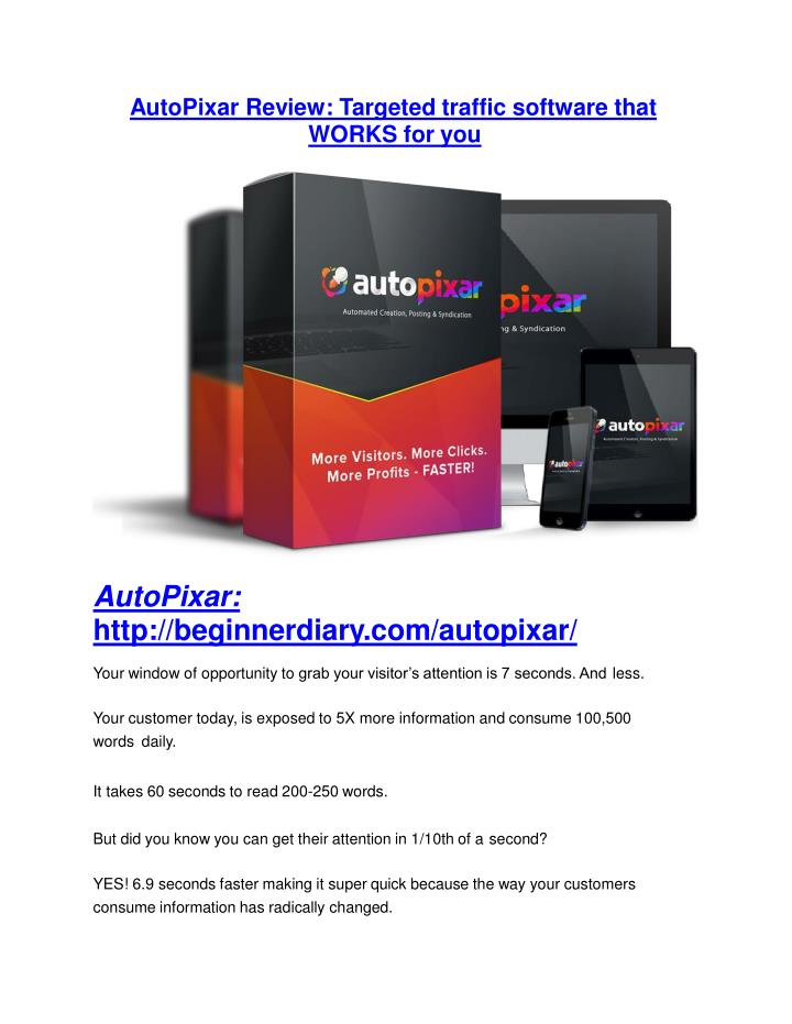 AutoPixar Review: Targeted traffic software
