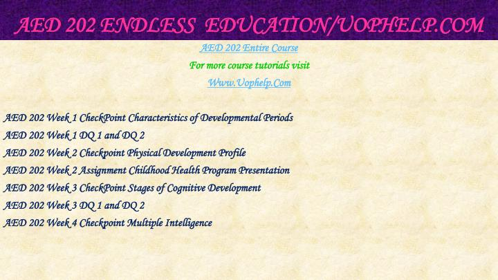 Aed 202 endless education uophelp com1