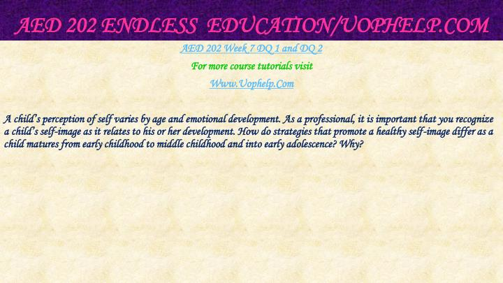 AED 202 Endless  Education/